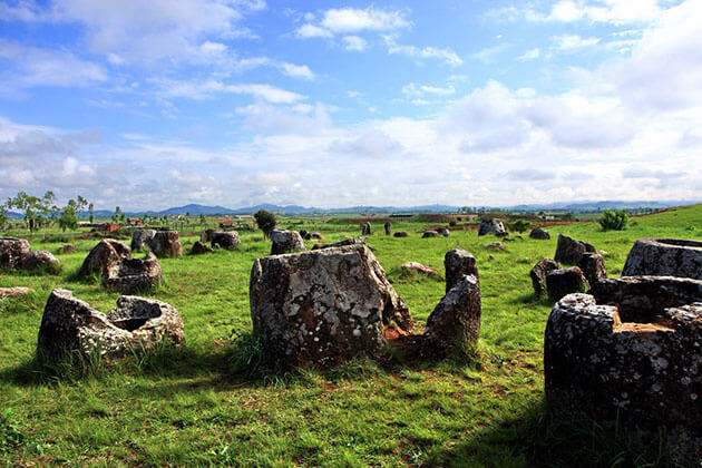 Plain of Jars a majestic archaeologcal site in Laos