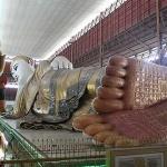 Reclining Buddha image in Chauk Htat Gyi Pagoda in Myanmar laos vietnam tour