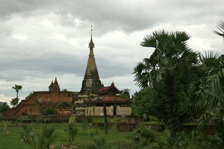 Ruins in Inwa (Ava), Myanmar.