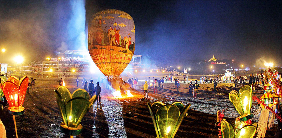 Taunggyi hot air balloon festival is a highlight of myanmar tours in november