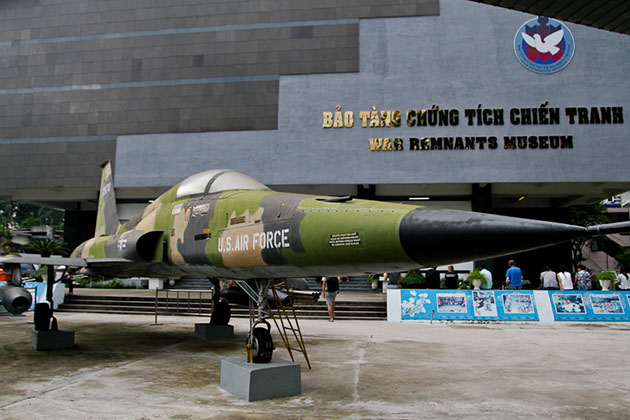 War Remnants Museum in Myanmar laos vietnam tour itinerary