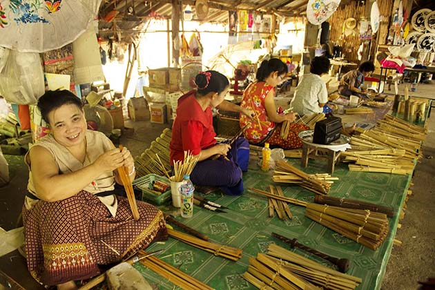 Women in a Handicraft Village-Chiang Mai