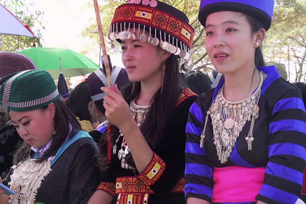 ethnic girls at Hmong market at KM52