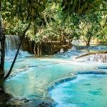 myanmar laos vietnam tour with a visit to Kuangsi Waterfall