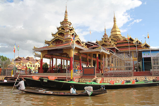 phaung daw oo pagoda the holiest site in Inle lake