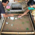 the traditional paper making in Pindaya