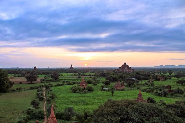 Bagan, fresh and green during the monsoon season