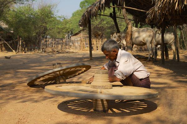 Traditional Minnanthu Village near Bagan, Myanmar/Burma