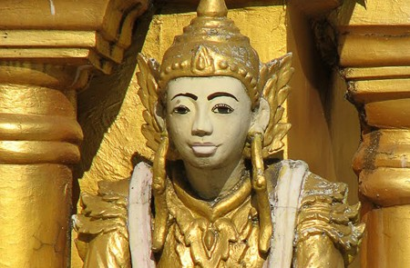 Deva in Shwe Dagon Pagoda