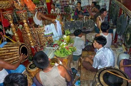 Traditional Orchestra in Myanmar Nat Festival