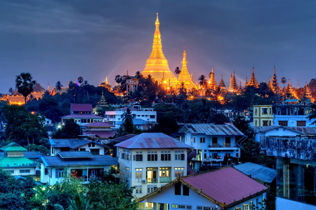 The City of Yangon, Myanmar