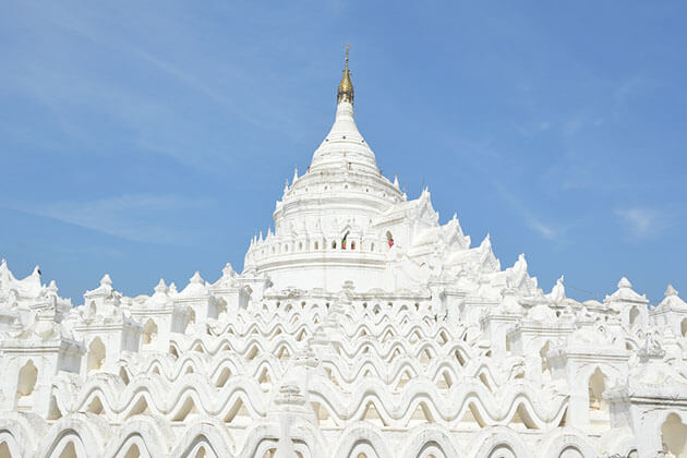 the majestic Hsinbyume Temple in Mingun Mandalay