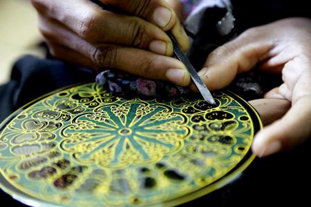 Art of making lacquerware in Myanmar