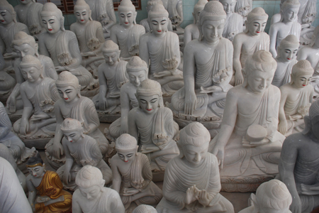 Stone Buddha images in Myanmar