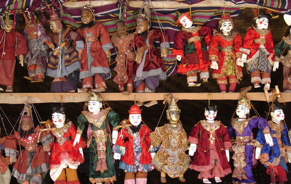 Myanmar carving puppets