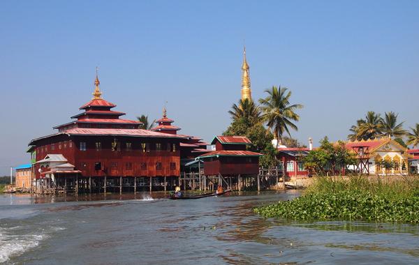 Ngaphechaung Monastery, Inle Lake, Myanmar