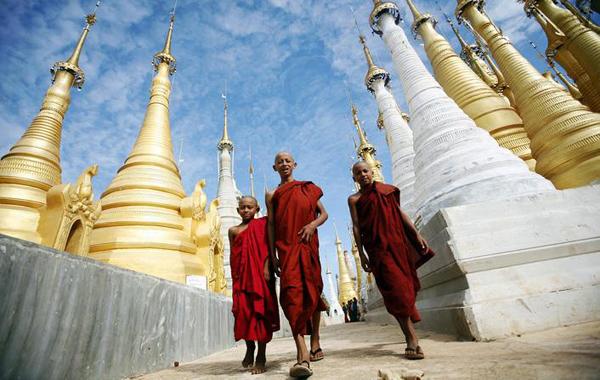 Shwe Indein Pagoda Inle Lake Myanmar