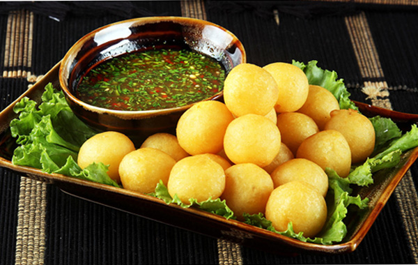 potato croquettes at Shan Yoe yar - one of the best restaurants in yangon