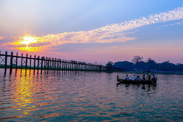 U-Bein Bridge the best place to watch sunset in Mandalay