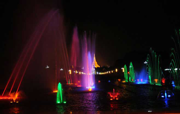 Water Fountain Garden in People's Park and Square
