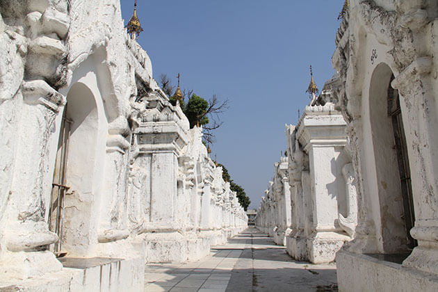 kuthodaw pagoda home to the largest book made from 729 marble slabs