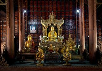 Buddha Images at Shweinbin Monastery