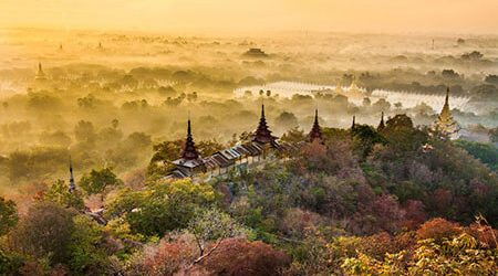 marvel the panoramic view of Mandalay in mandalay tour