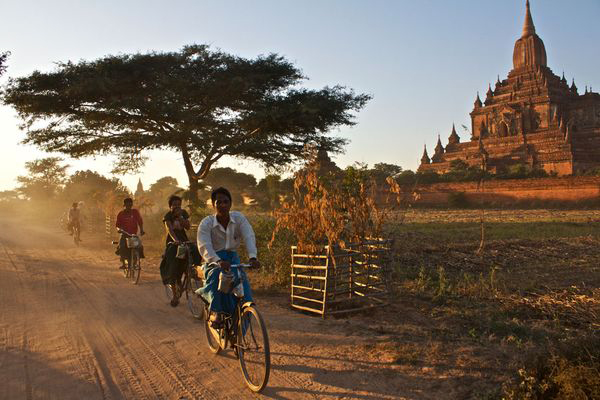Cycling in Myanmar
