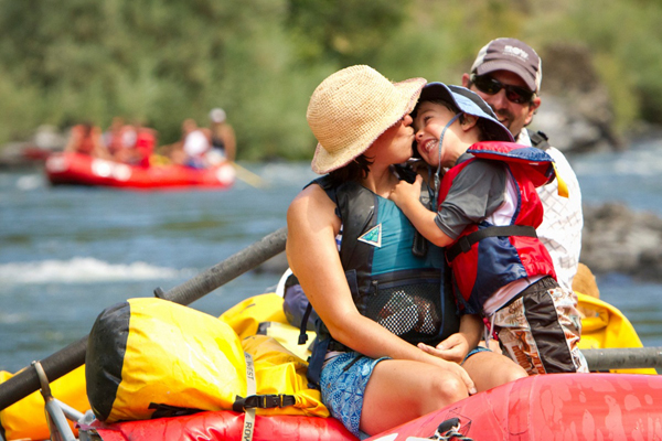 Family rafting trip in Myanmar