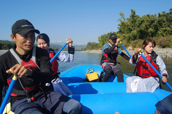 Whitewater rafting in Kachin State Myanmar