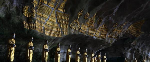 Buddha Images inside Saddar Cave, Hpa An