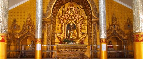 Buddha image Inside Yadanar Man Aung Pagoda
