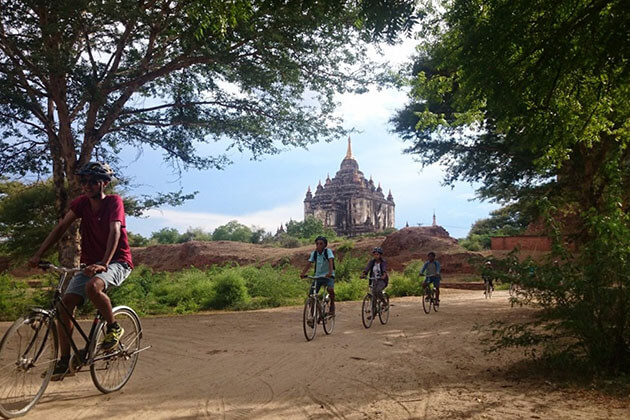 biking around the temples of bagan