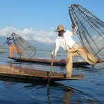 the intha fishermen in inle lake - iconic image to see in myanmar tour