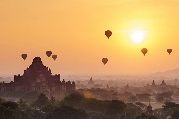Bagan archaeological area and monuments - Myanmar UNESCO heritage site