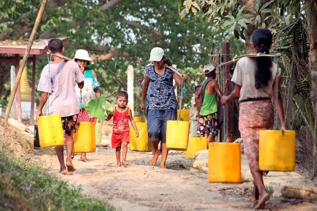 Clean water supply and hygiene in Myanmar is a problem for high-quality living standard foreigners