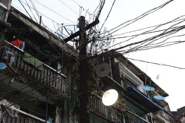 Electricity in Myanmar is unreliable in rural area