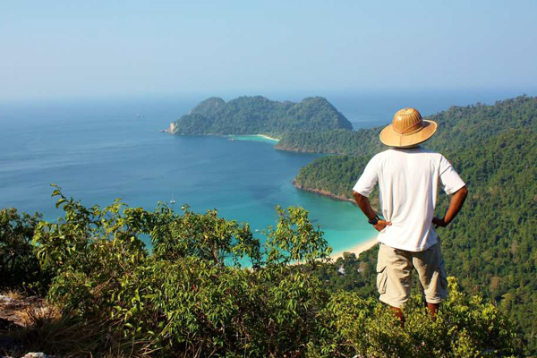 View from the hill on Macleod Island in the Myeik Archipelago