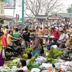 Burmese local market in Bhamo