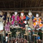 Burmese traditional puppets for sale in Nyaung U Market