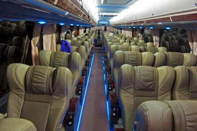 Bus in Myanmar - high standard and most comfortable furniture upgraded