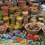 Ceramic products for sale in Nyaung U market