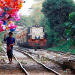Circle Line Train in Yangon