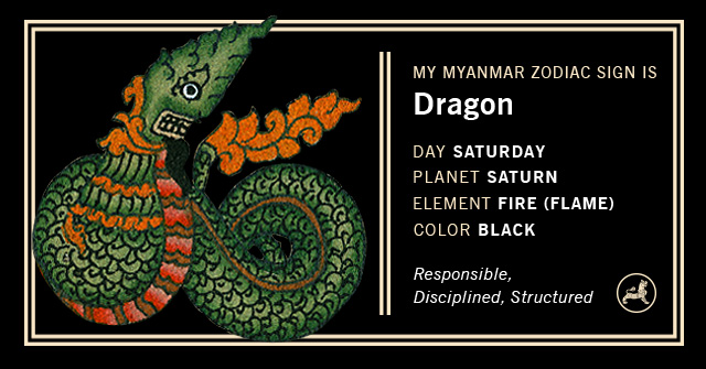 Myanmar Animal Zodiac Sign - Dragon