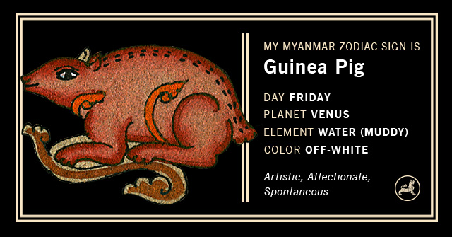 Myanmar Animal Zodiac Sign - Guinea Pig