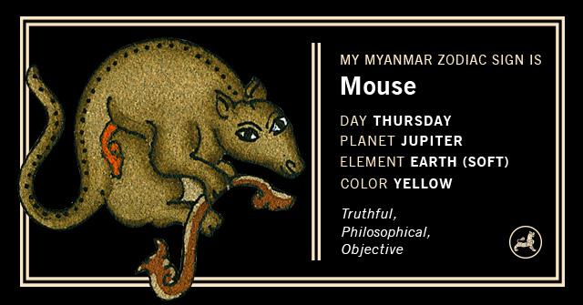 Myanmar Animal Zodiac Sign - Rat