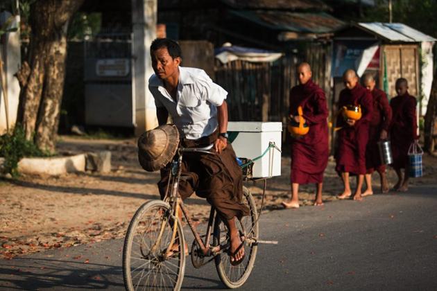 Myanmar traditional costume longyi