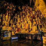Myriads of Buddha images inside Pindaya Limestone Cave