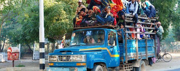 Pickup truck in Myanmar