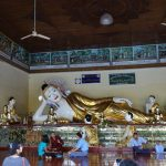 Reclining Buddha image in the complex of Shwedagon